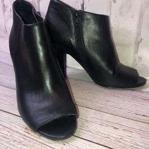 Nine West peep toe black ankle booties. Size 9